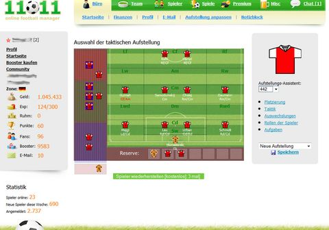 11x11 fussball manager